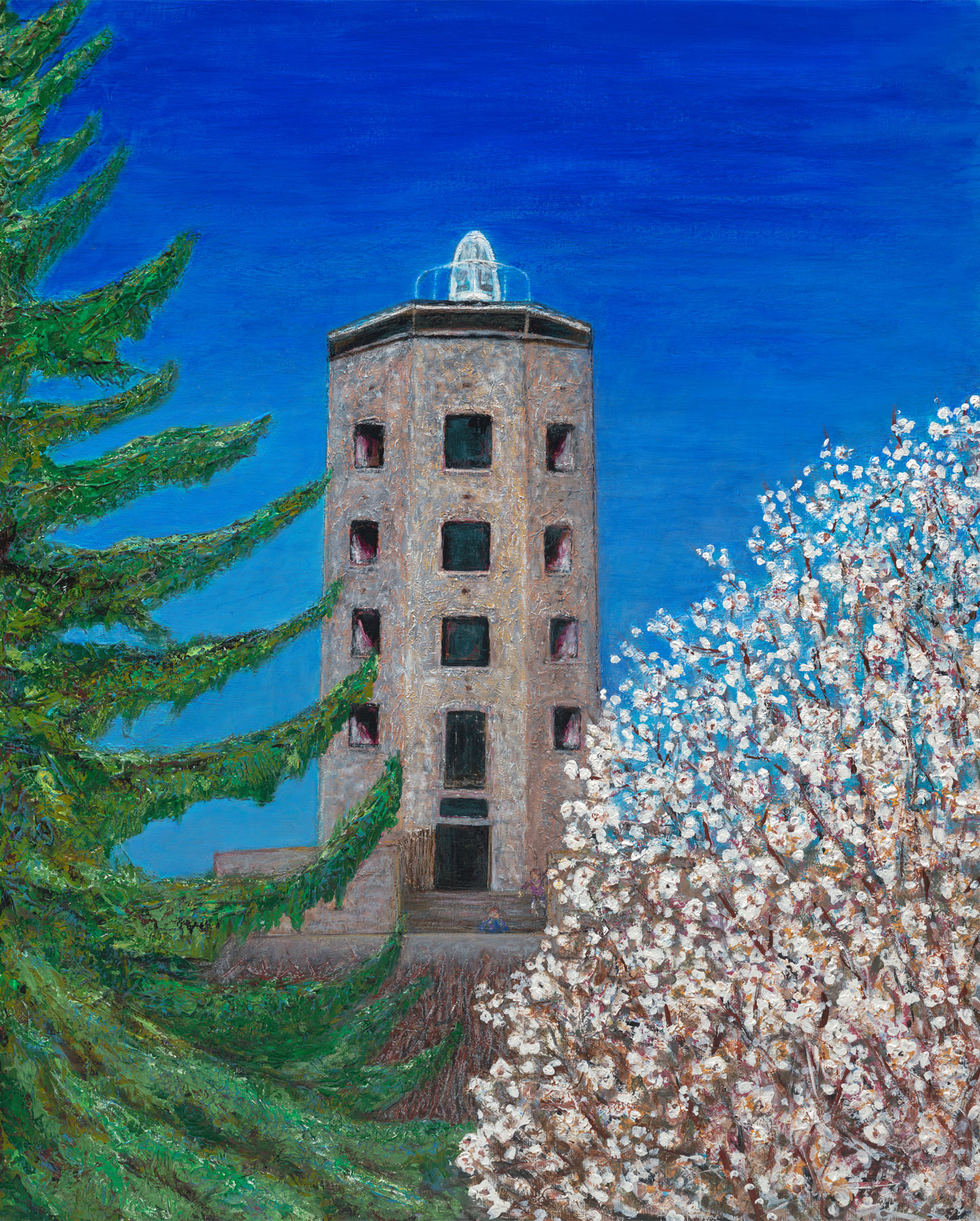 Enger Tower in Spring 24x30